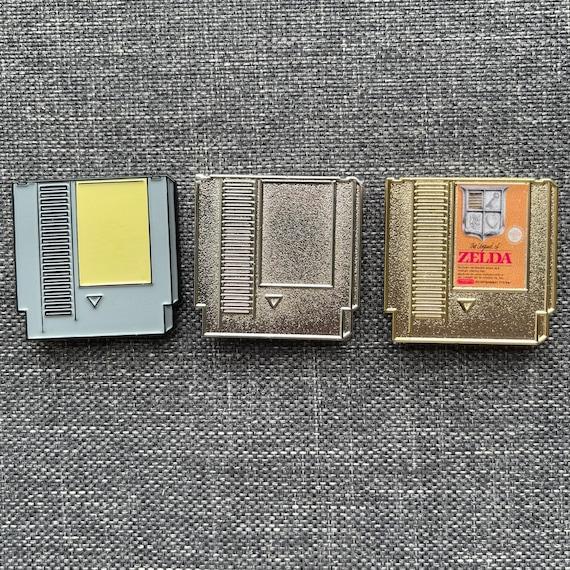 Retro Nintendo NES Cartridge Pin Badge - Create Your Own - Gaming Gift / Nerd / Zelda / Mario