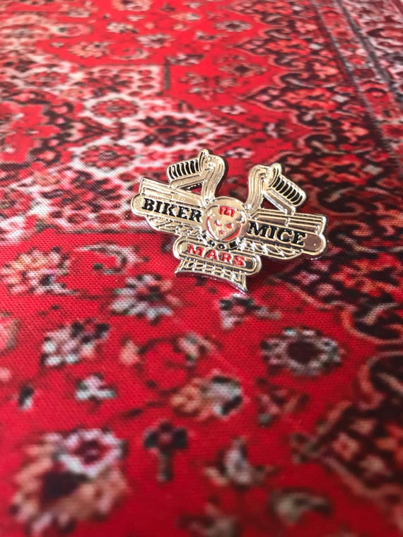 Biker Mice From Mars 90s Cartoon Enamel Pin Pin Badge - nostalgia / TV Show / Cartoon Show / Vintage