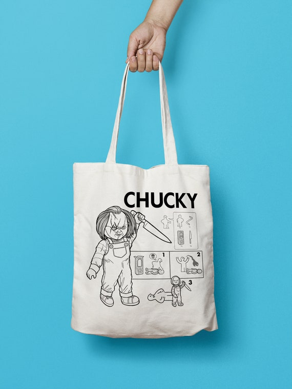Chucky Horror Movie Doll - Build Your Own Doll Horror Totebag - Gift Horror Fan Scary Movie