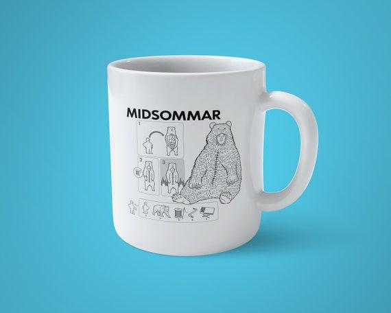 Midsommar Build Your Own Bear Mug - Horror Fan, Gift, Tea Drinker, Horror Movie - Free Shipping