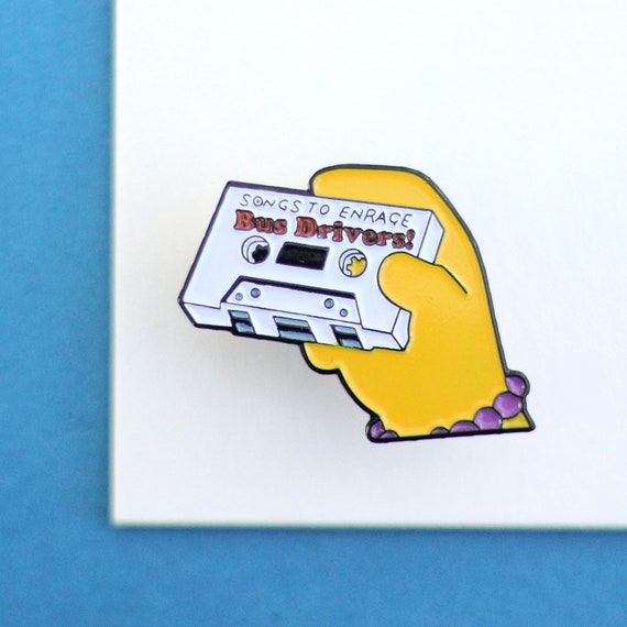 SIMPSONS PIN BADGE, Soft Enamel Pin, Fashionable Soft Pin, Unisex Clothes Pin, Gift For Friend