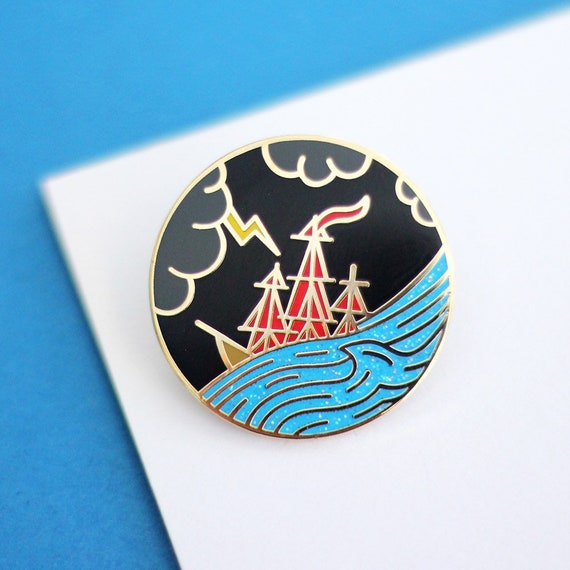 Sinking Ship Hard Enamel Pin Badge