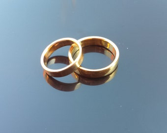 Gold or Silver Wedding Rings, Wedding Rings 1 Pair, Custom Made, Material 999, 888, 750, 585, 333 Gold Color of Your Choice