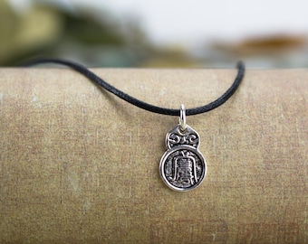 Feng shui pendant etsy sterling silver charm necklace feng shui jewelry double sided windwater symbol pendant black cord necklace personalized charm necklaces aloadofball Choice Image