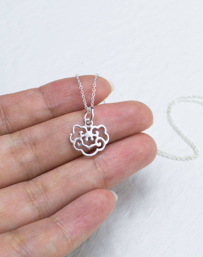 4803165ab6dc8 Sterling Silver Lock Charm Necklace Lucky Lock Longevity