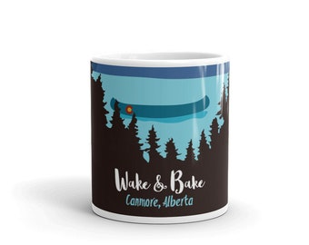 Wake and Bake Cannabis Marijuana Colorado Coffee Mug Canmore, Alberta custom Canada