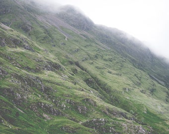Green Scottish Hills Print - Digital Download, Scottish Highlands, Scotland Landscape, Mountain Nature, Modern Home Decor,Printable Wall Art