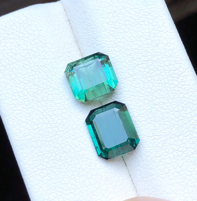 3.60 Carats Natural Blue /& Green Transparent Tourmaline Gemstones Parcel 2 Pieces from Afghanistan