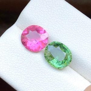 22 Carats Superb Purplish Amethyst Flawless Gemstone Pair  Best for Rings @ Africa