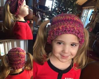 5158abf45bd Pigtail beanie  piggy beanie hat  crichet pigtail beanie hat  crochet hat