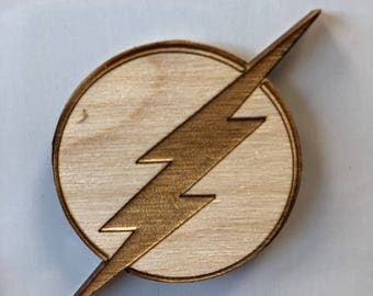 The Flash Fridge Magnet - DC Inspired - Geeky Magnet - Wooden Magnet - Fridge Magnet - Laser Cut - Laser Engraved