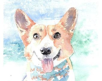 7238517cf Corgi Custom Dog Portrait