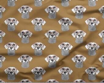 Fabric By The Yard Greenish Beige Color Fabric Craft Fabric Craft Decorative Fabric Dog Print Fabric SMIN-DG-55D Cotton Cambric Fabric