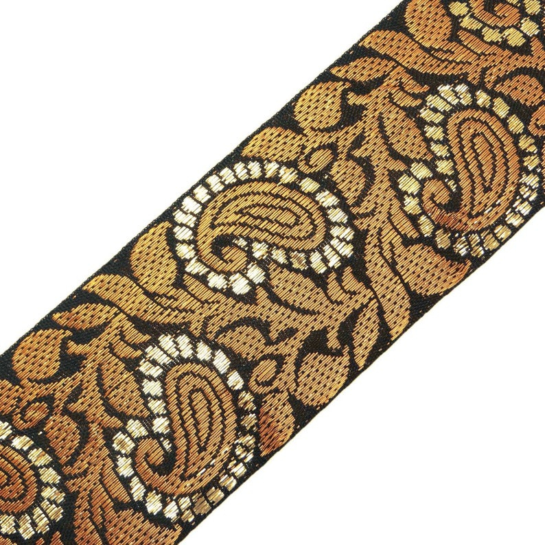 Crafting Ribbon 1.7 Cm Wide Woven Jacquard Trim Decorative Sewing By The Yard