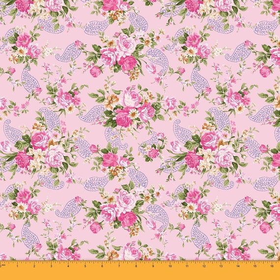 Dress Fabric-Printed Dress Cotton Fabric by Yard White and Purple Floral Print Soft Cambric Cotton Digital Printed Indian Cotton Fabric