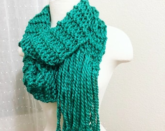 Infinity Scarf with Side Fringe