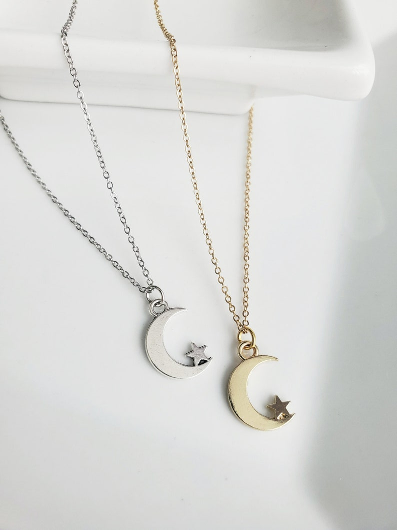 Moon Necklace Moon Necklace Gold Crescent Moon Necklace Crescent Moon Silver Crescent Moon Crescent Moon Necklace Silver Moon Necklace