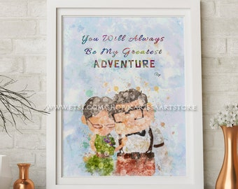 Disney up Adventure is out there Disney Quotes Pixar Art | Etsy