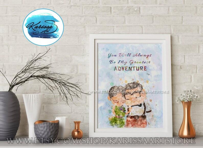 Disney Pixar Abenteuer Disney Zitate Pixar Up Disney Carl Und Ellie Kunst Druck Paar Wandkunst Kinderzimmer Geschenk Hochzeit