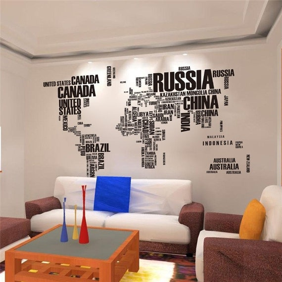 Map Of Russia Wall Hanging Background Poster Decor