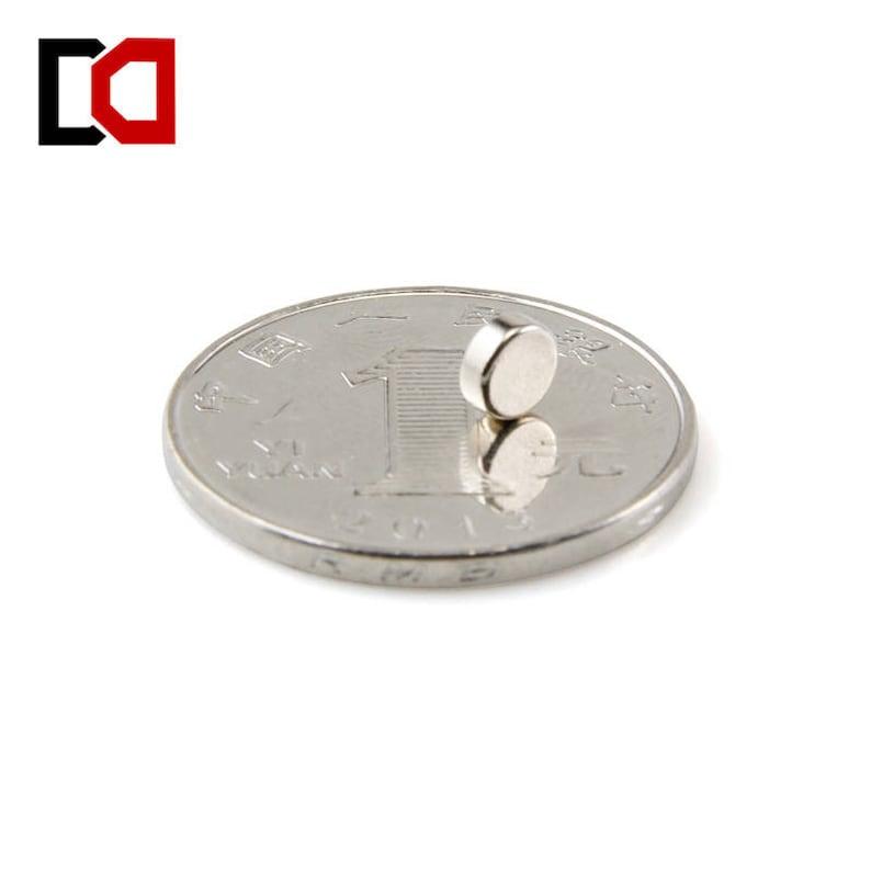 100pcs disc 5x2mm n50 rare earth permanent strong neodymium magnet bulk NdFeB magnets nickle