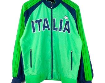 Vintage Kappa Jacket Kappa Italia Logo Block Color   Kappa Sweatshirt    Kappa Hoodie   Kappa Windbreaker Retro Fashion Rap Tees Hip Hop 82f7be1eb6ffa