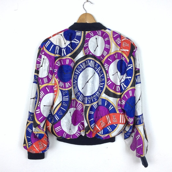 Vintage Bomber Jacket Baroque Bomber Jacket Purpl… - image 3