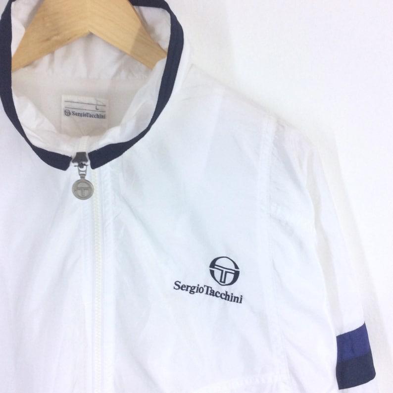e051edb65 Vintage Sergio Tacchini Jacket / Sergio Tacchini Bomber Jacket / Light  jacket / Windbreaker Jacket Small Logo Large Size