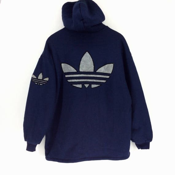 84401401158b Vintage Adidas Hoodie Jacket / Adidas Trefoil Multicolor / Sweatshirt /  Jacket / Shirt / Adidas Winter Jacket / Big Logo Rap Tees Hip Hop