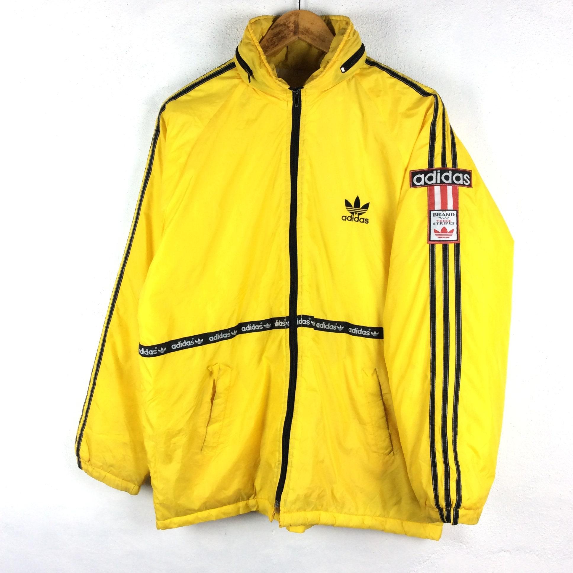 484f0175f1428 Vintage Adidas Jacket / Adidas Puffer Jacket / Jacket / Winter Jacket /  Hoodie / Vintage 90s Rap Tees Hip Hop Swag