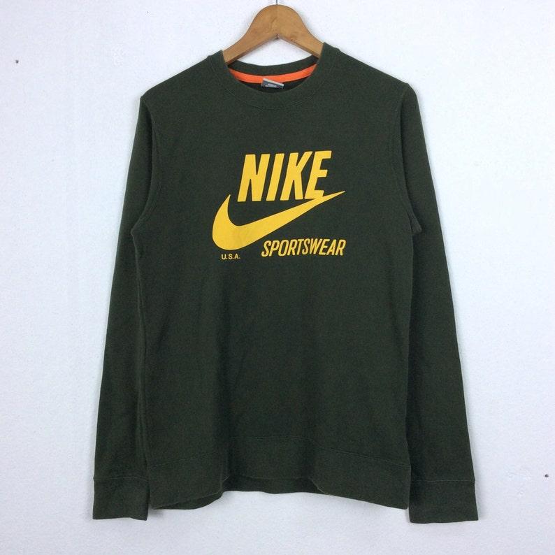 e2303abf75438 Vintage Nike Sweatshirt Big Logo M Size Pullover Jumper Rap Tees Hip Hop  Swag