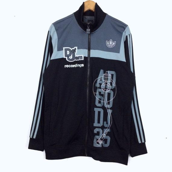 Jahrgang Adidas Def Jam Aufnahmen Trefoil Stickerei Jacke Sweatshirt Crewneck Jacke Shirt Hoodie R&B Hip Hop Musik