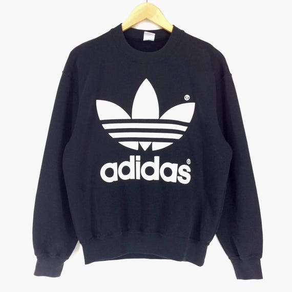 Vintage Adidas Big Logo Sweater Adidas Pullover Sweater Hiphop,Swag Adidas Multi Color Sweater