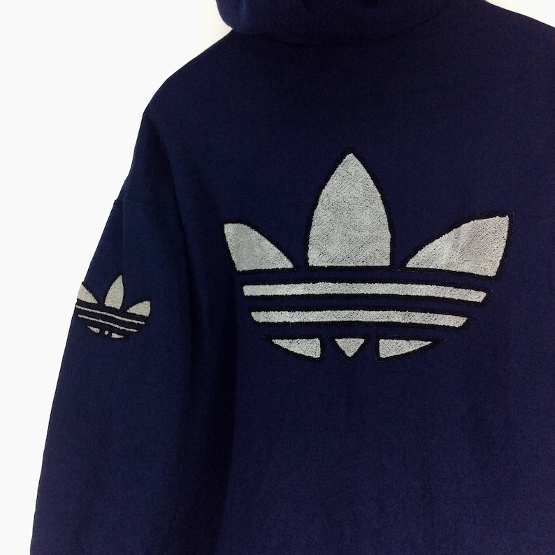 66a0677441415 Vintage Adidas Hoodie Jacket / Adidas Trefoil Multicolor / Sweatshirt /  Jacket / Shirt / Adidas Winter Jacket / Big Logo Rap Tees Hip Hop
