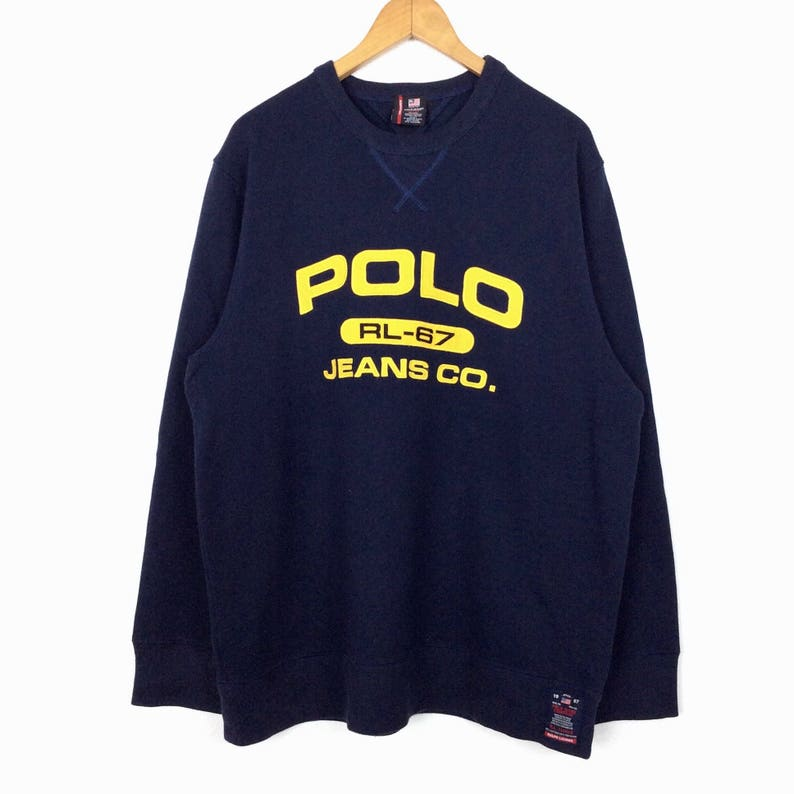 52f010965e1eb RARE Vintage 90s Polo Jeans by Ralph Lauren Big Logo