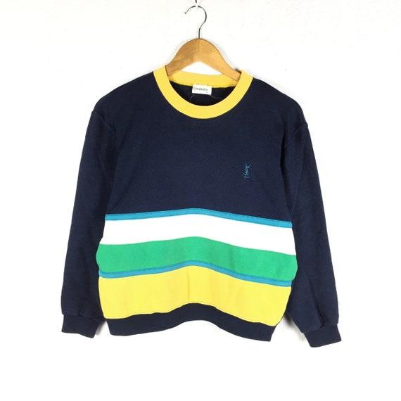 1d886d92ea6 RARE Vintage Yves Saint Laurent Sweatshirt YSL Block Color | Etsy