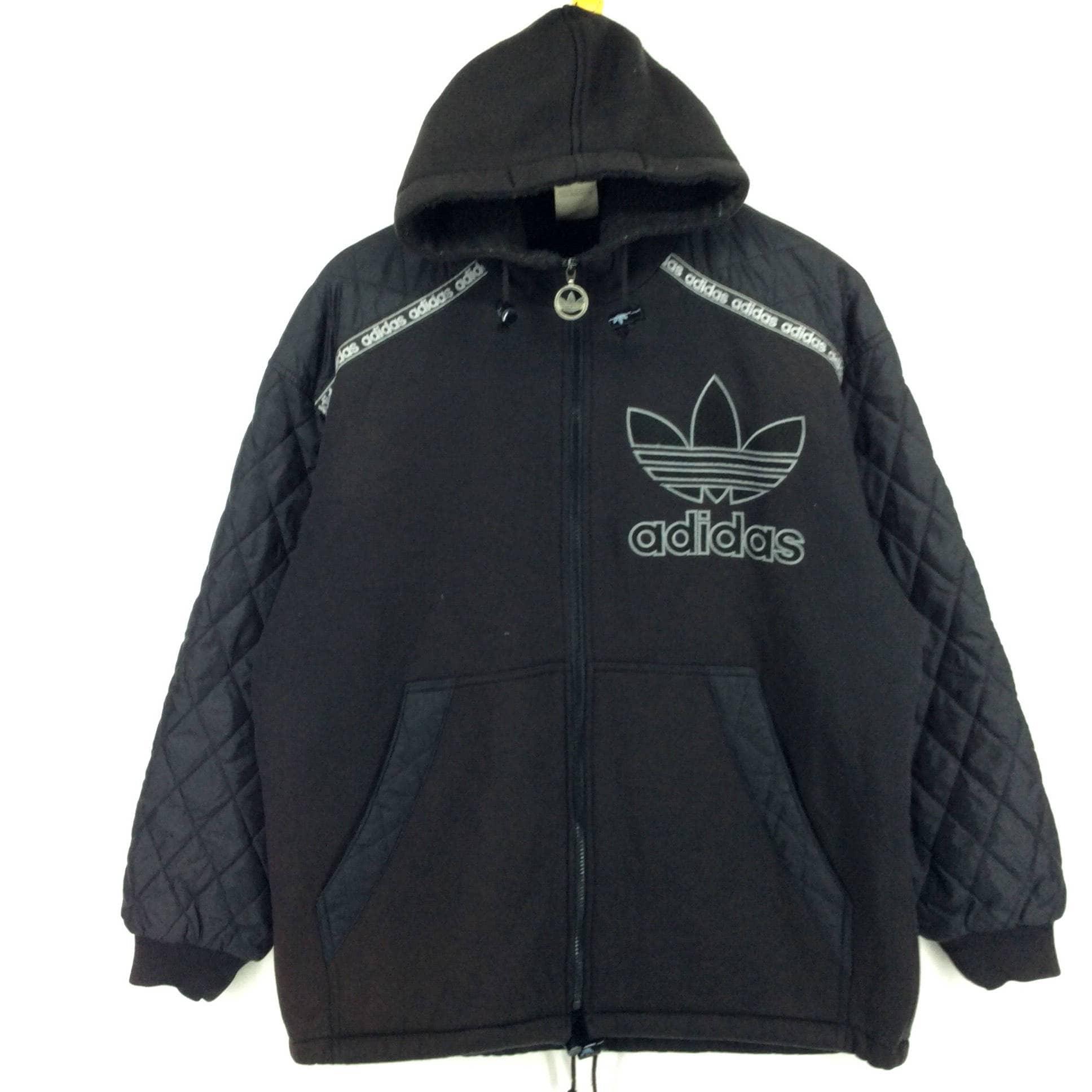 c87224e692add Vintage Adidas Hoodie Jacket   Adidas Trefoil Multicolor     Etsy