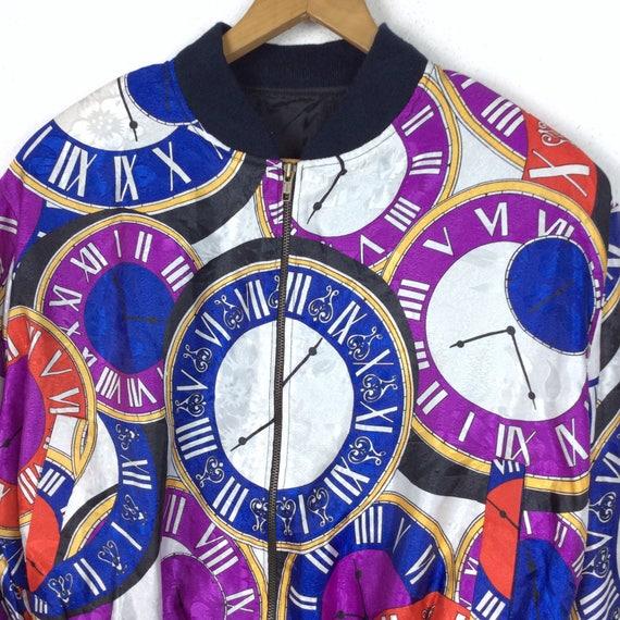 Vintage Bomber Jacket Baroque Bomber Jacket Purpl… - image 2