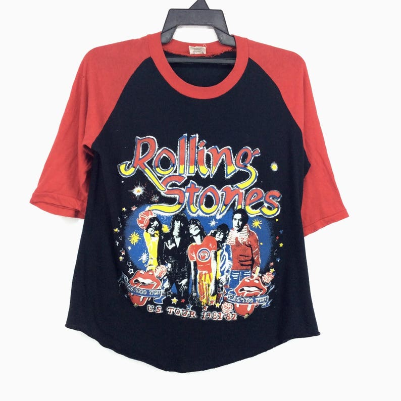 RARE!! Vintage 80s Rolling Stones U S Tour 1981 82 Tatto You Made In  Pakistan English Rock Band Mick Jagger Keith Richards Charlie Watts