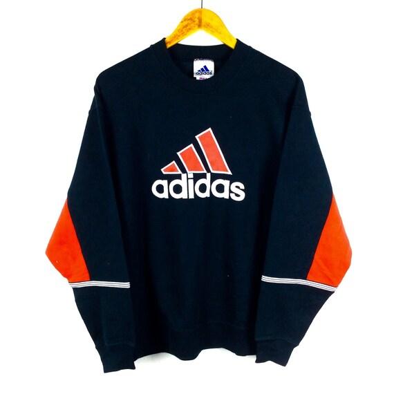 new arrivals 24029 1ca6c Vintage 90s Adidas Trefoil Sweatshirt Big Logo Spellout Jumper   Etsy