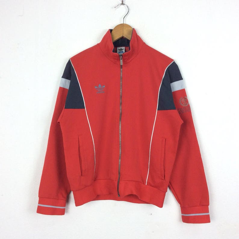 453f874a7e552 Vintage Adidas Trefoil Embroidery Jacket multicolor / Sweatshirt / Jacket /  Shirt / Hoodie / Big Logo Hip Hop Swag