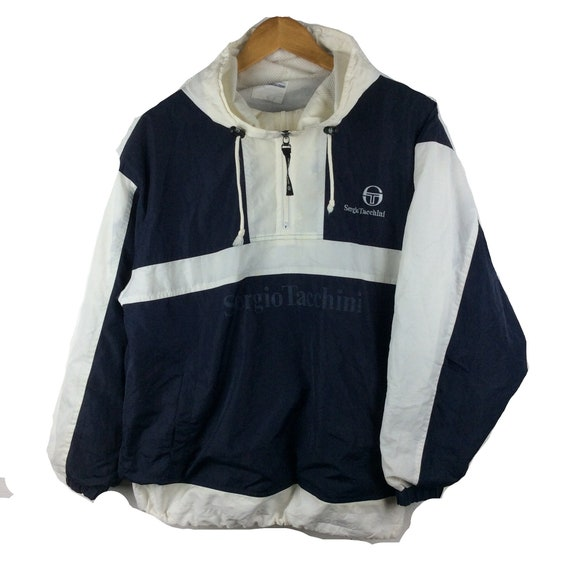 Vintage Sergio Tacchini Light Jacket Vintage Sergio Tacchini Big Logo Sweater Tennis Streetwear Hip Hop Casual Jacket sz L
