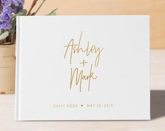 White Wedding Guest Book dd7130962
