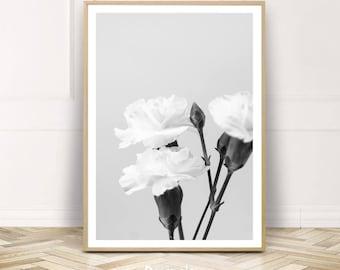 Jardin botanique tirage Poster, fleurs Printable Wall Art, grand noir blanc plante Home Decor, téléchargement immédiat, cadeau pour elle, cadeau de fête des mères