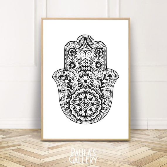 D Hamsa Hand Art Print Home Decor Wall Art Poster