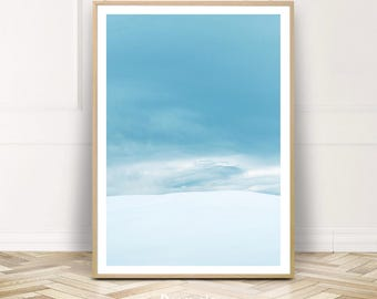 Scandinavian Mountain Print Poster,Minimalist Photography Wall Art,Snowy Landscape Instant Download,Gift for Her,Home Decor