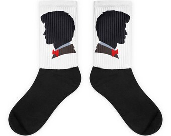 Doctor Who Socks • Matt Smith Socks • Geronimo • Eleventh Doctor • 11th Doctor • Dr Who