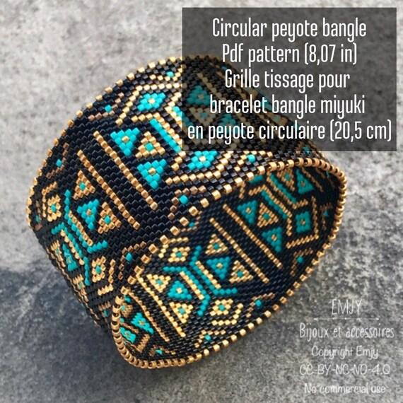 Bangle Pattern Circular Peyote Circular Peyote For Bangle Etsy