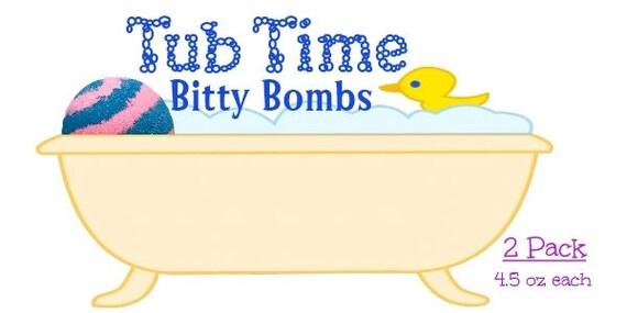 Baignoire bombes Bitty enfant temps