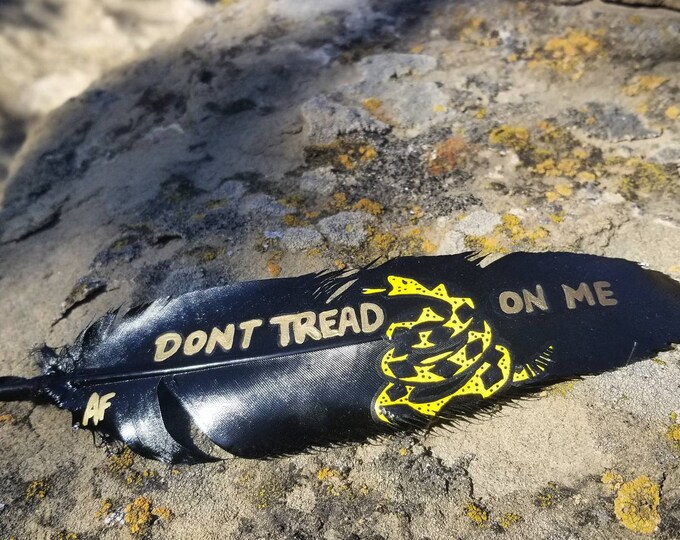 American Don't Tread On Me Feather
